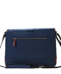 Commuter satchel Large - 15 inch Navy canvas