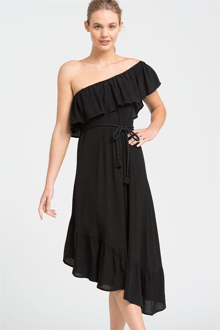 Black Summer Dreams Ruffle Dress