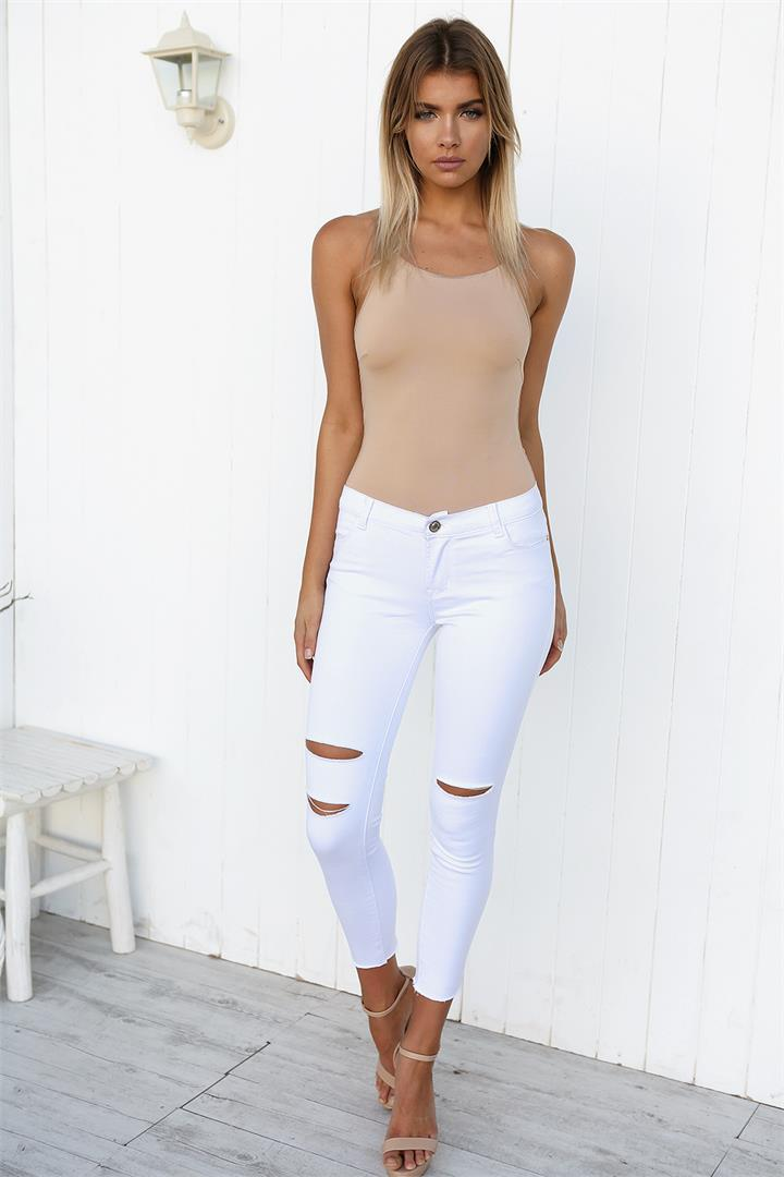 All Day Jeans - White-14