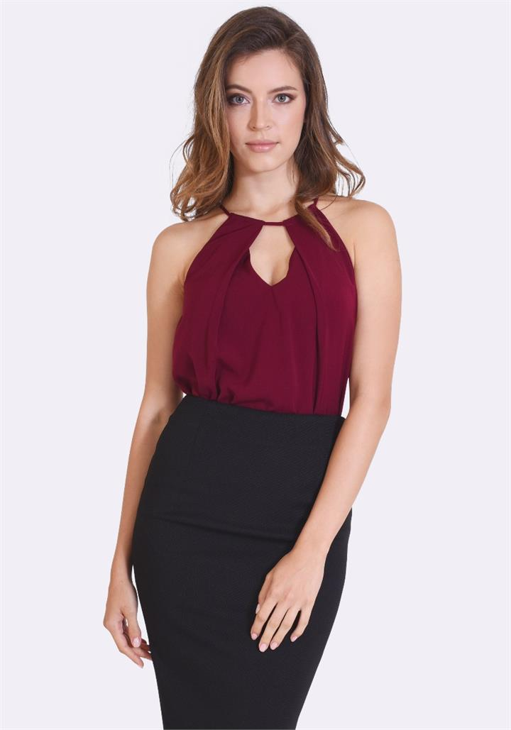 Ana Cut-Out Halter Top