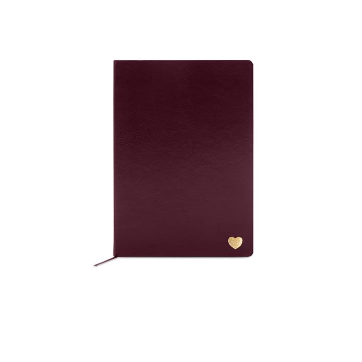 Smooth Large Vegan Leather Notebook - Monogrammed Notebook