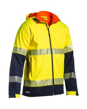 Bisley Taped Two Tone Hi Vis Rip Stop Softshell Jacket