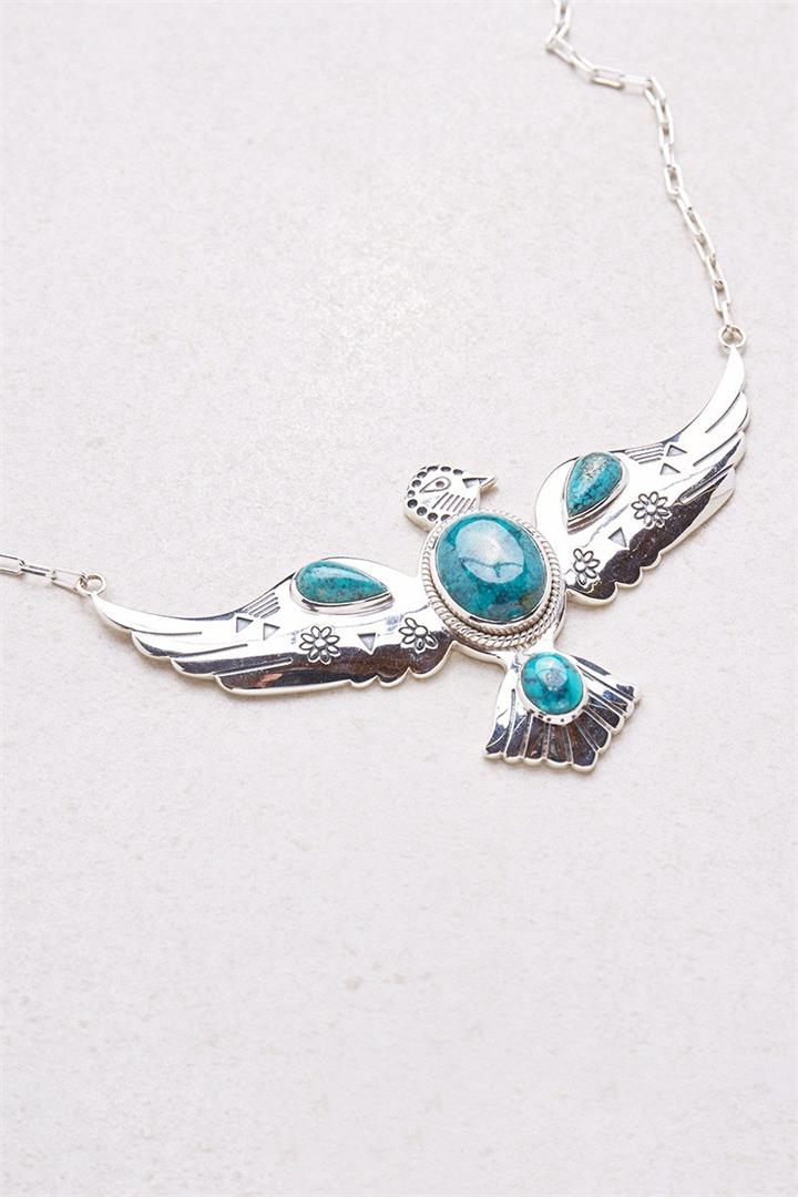 Silver Falcon Necklace