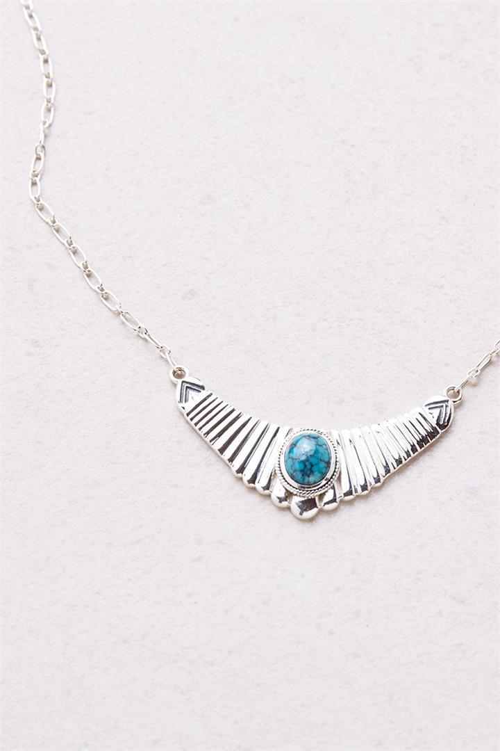 Silver Antelope Necklace