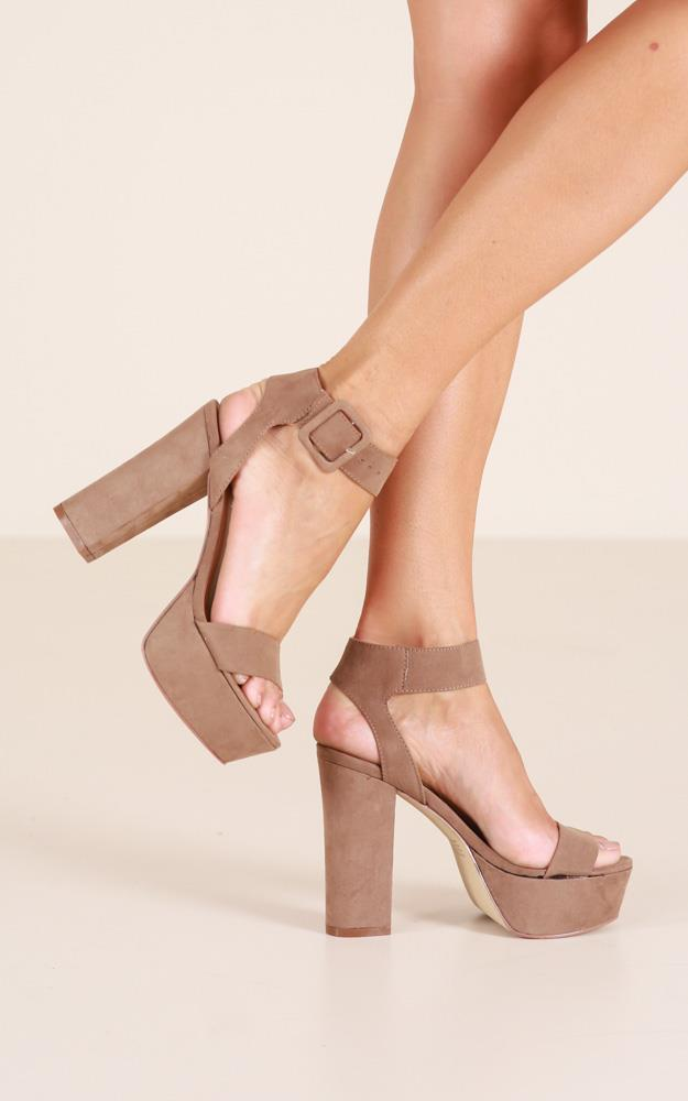 Showpo Therapy Shoes - Lelda in taupe