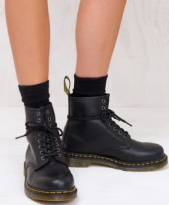 Women's 1460 Nappa Boots Black