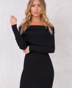 Women's 44 Moons Off The Shoulder Dress Black