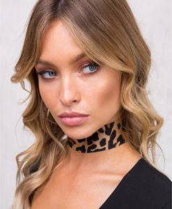 Women's 8 Other Reasons Leopard Choker Leopard