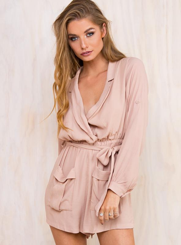 Women's A Rose For Emily Playsuit Beige