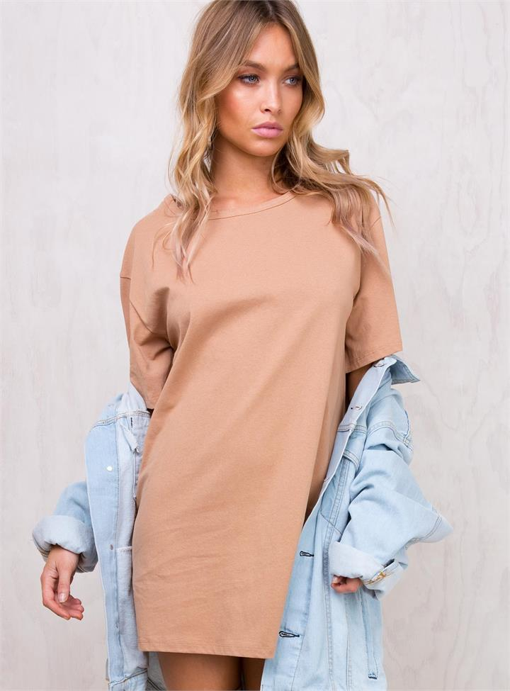 Women's Antonio Caramel T-Shirt Dress Caramel
