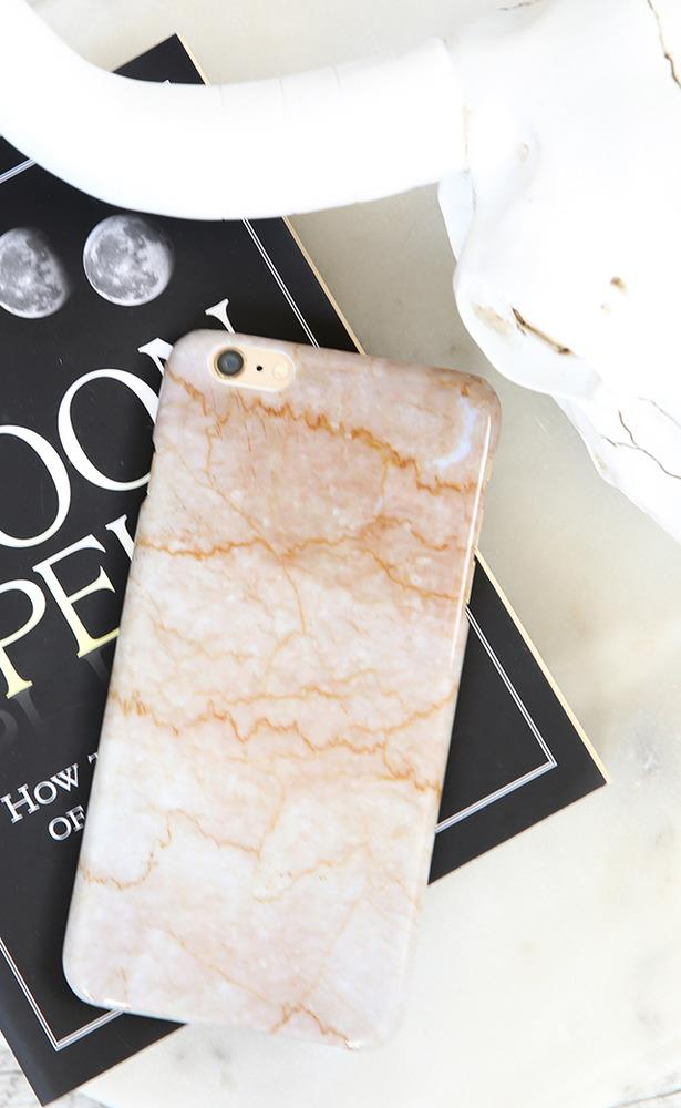 Showpo Lightning iphone cover in pink marble