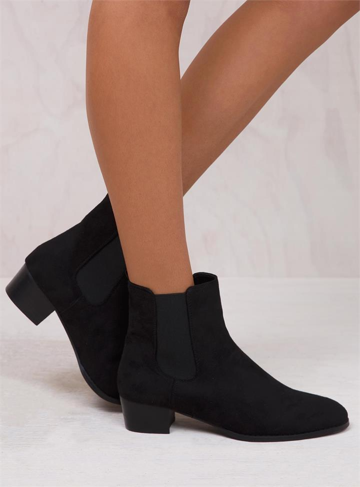 Women's Billini Black Suede Richie Boots Black
