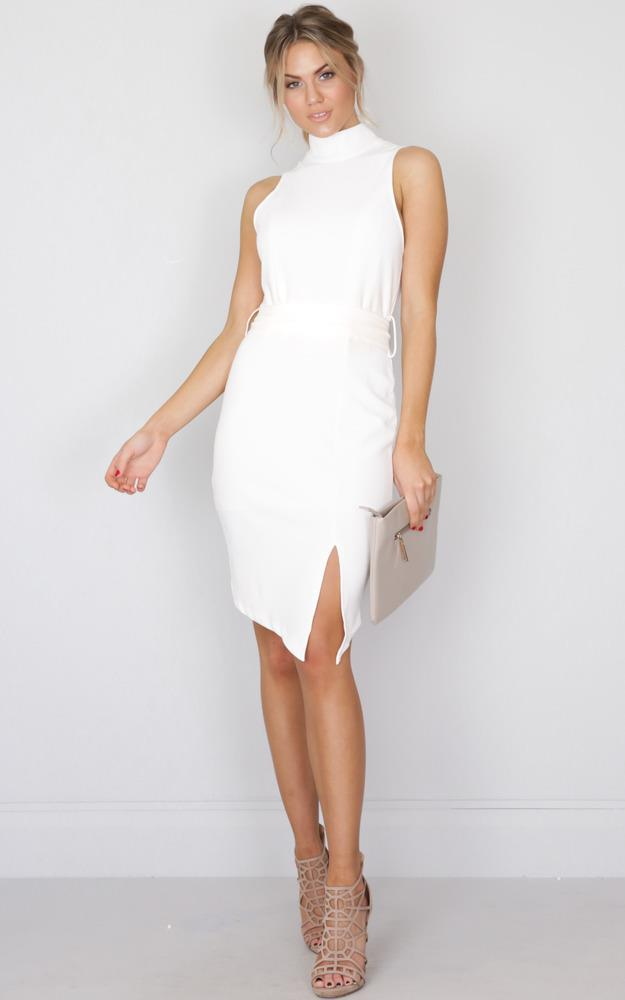 Showpo Be The Boss dress in white