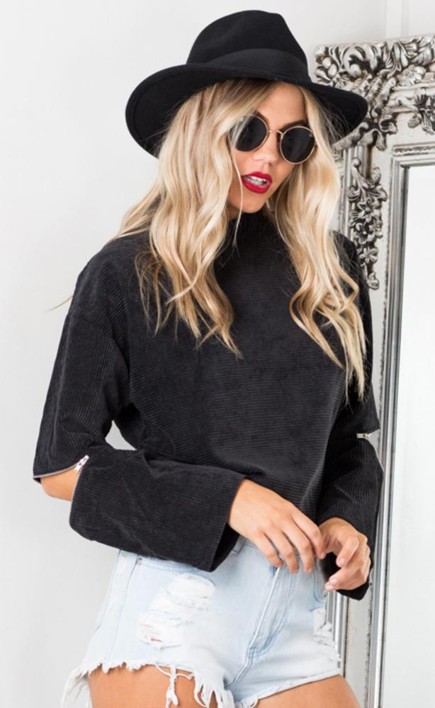 Showpo One Call Away sweater in black
