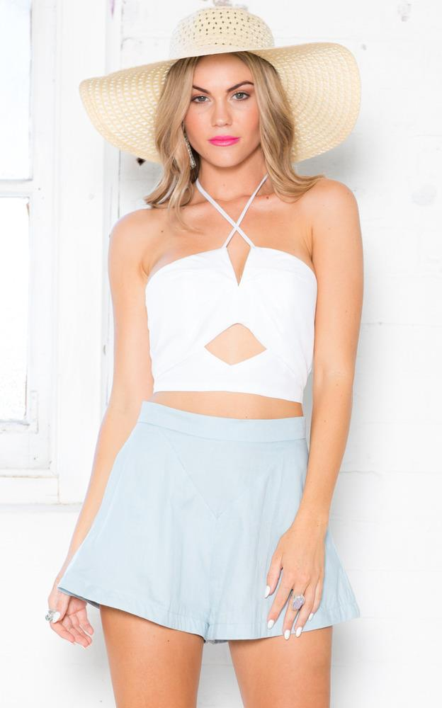 Showpo Out All Night Top in White