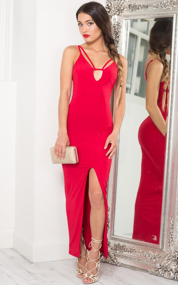 Showpo Endless Nights Maxi Dress in Red