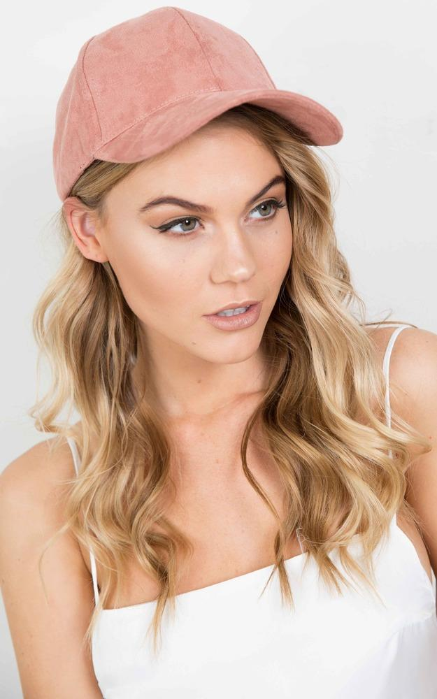 Showpo Half Time cap in dusty pink suedette Hair and Hats