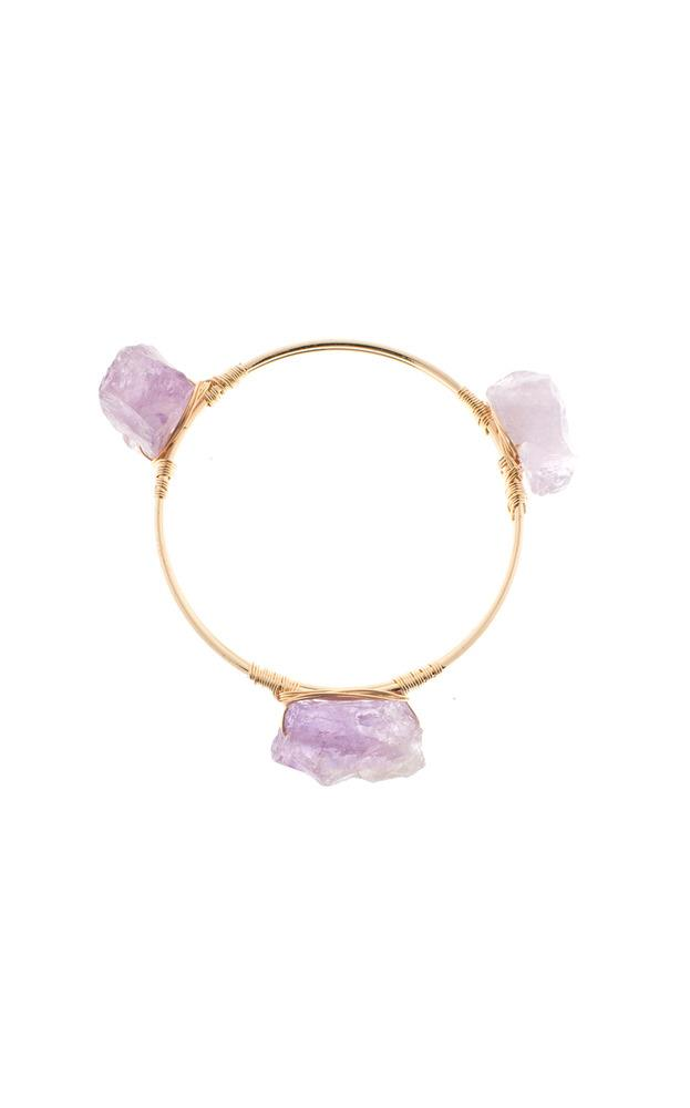 Showpo Power of Three Bangle in Purple and Gold