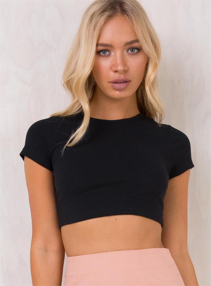 Women's Jet City Woman Crop Top Black
