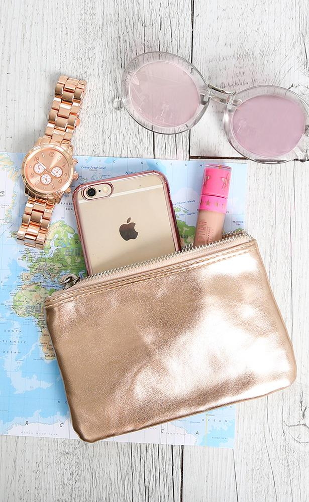 Showpo Cha Ching coin purse in rose gold