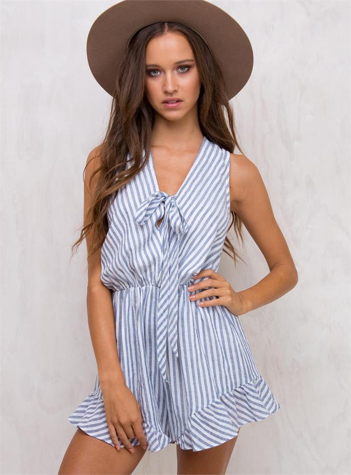 Women's Letter To Memphis Playsuit White/Nude