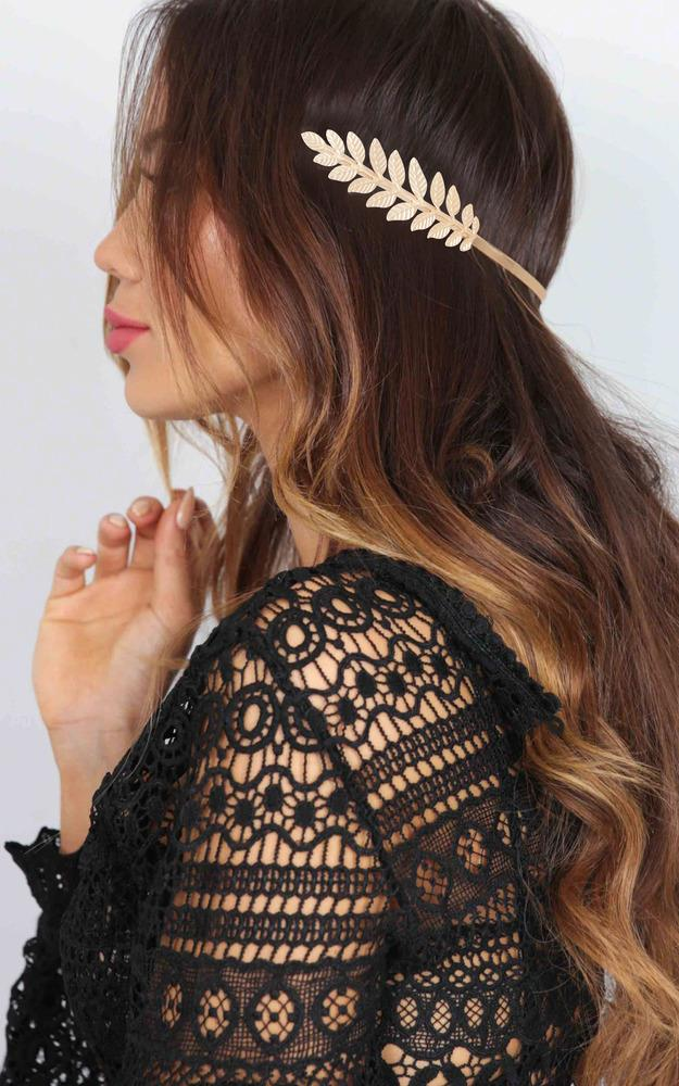 Showpo Abby Rose hair piece in gold Hair and Hats