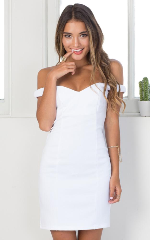 Showpo Just For You Dress in White