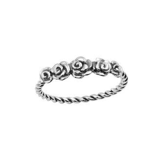 Women's Midsummer Star Roses Ring Silver