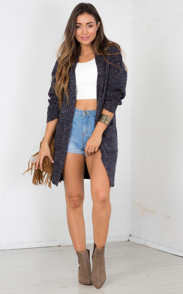 Showpo Night Walker Cardigan in Grey Marle