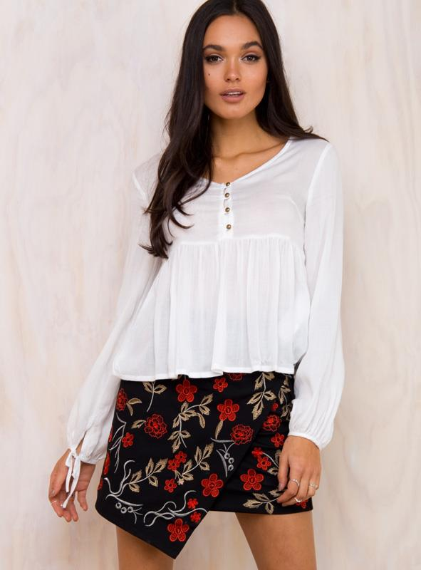 Women's Minkpink Splendour Boho Blouse White