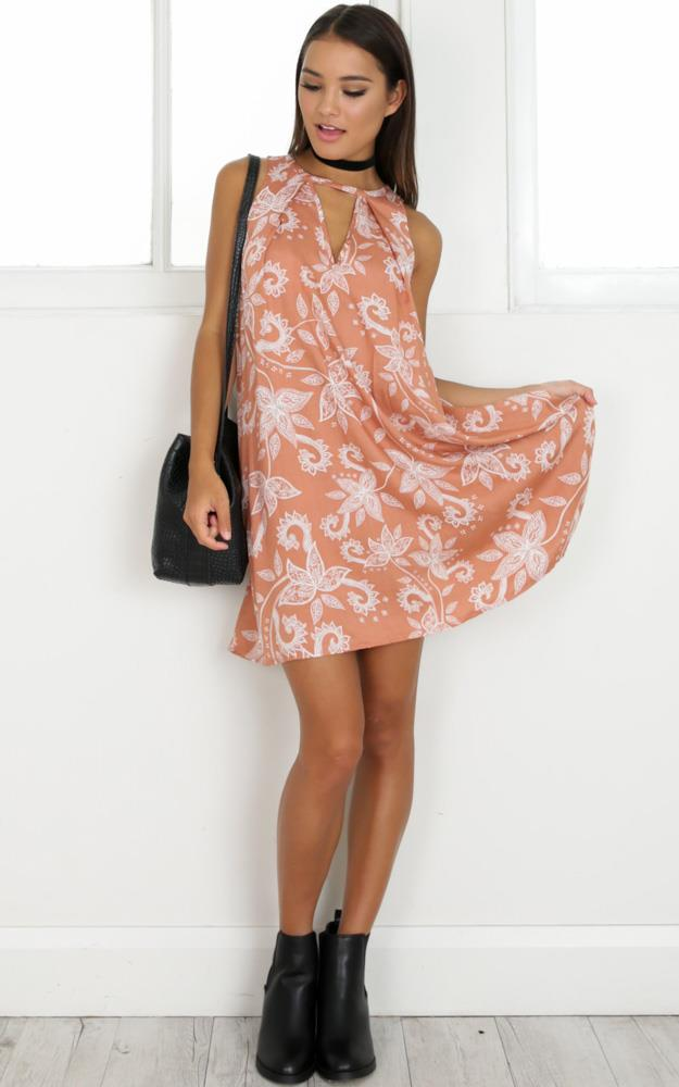 Showpo Nothing On You Dress in orange print