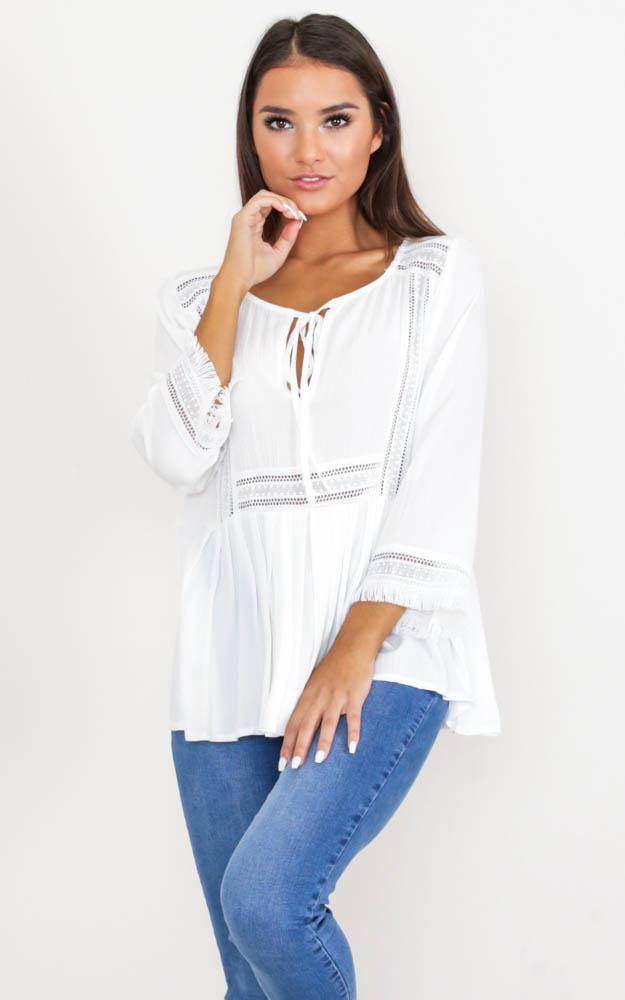 Showpo Only Exception Top in white