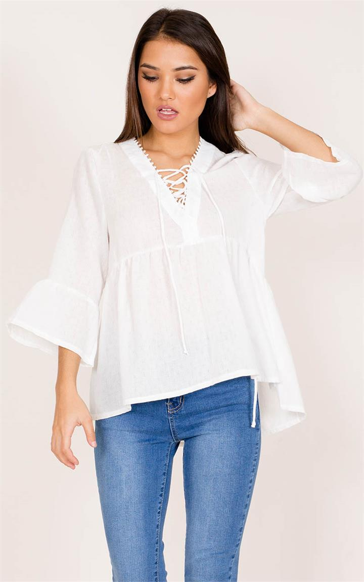 Showpo A New Day top in white
