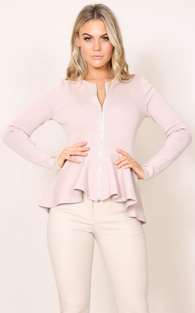 Showpo At The Top knit blazer in blush