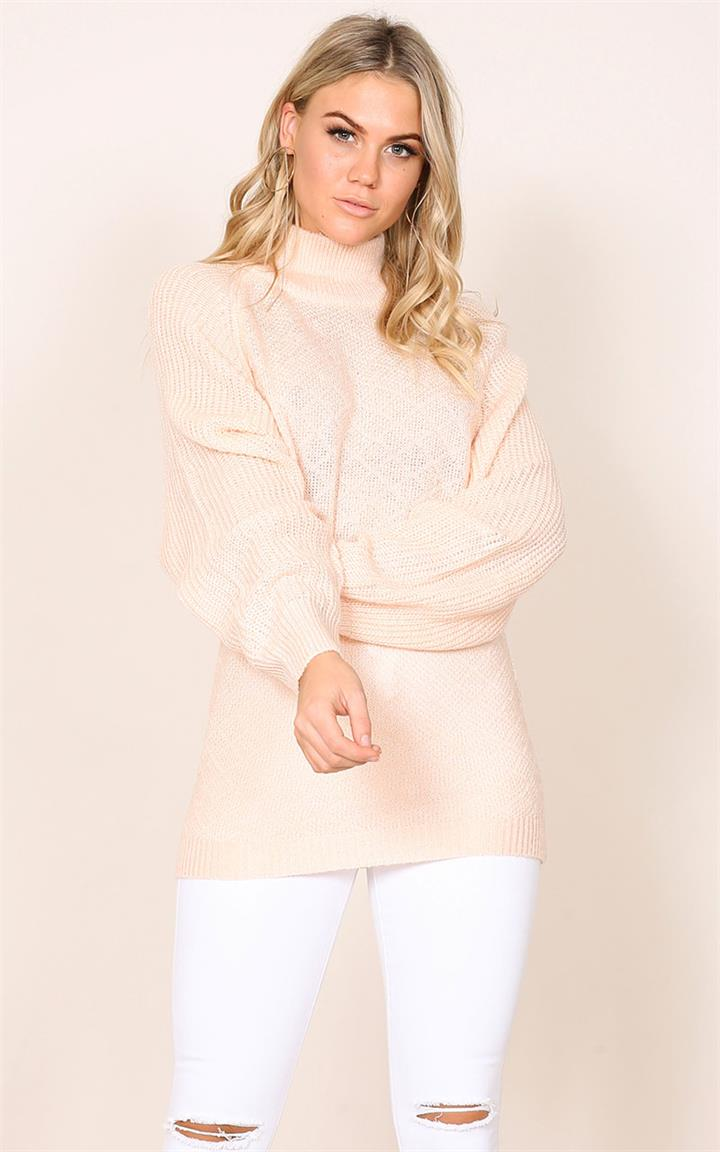 Showpo What Now knit in pale pink Knitwear