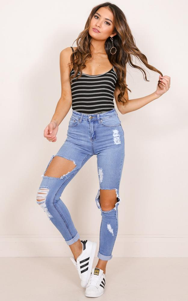 Showpo Tylah skinny jeans in mid wash