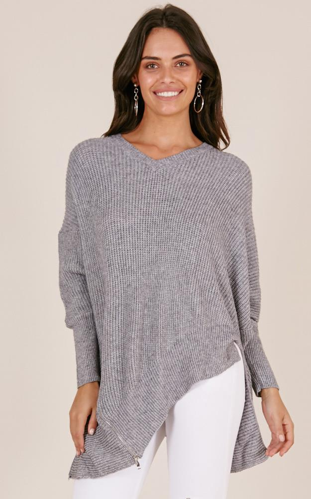 Showpo Nothing To Hide knit in grey