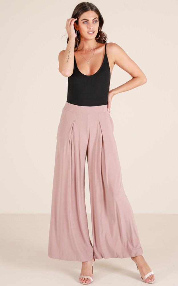 Showpo Sway My Way pants in taupe