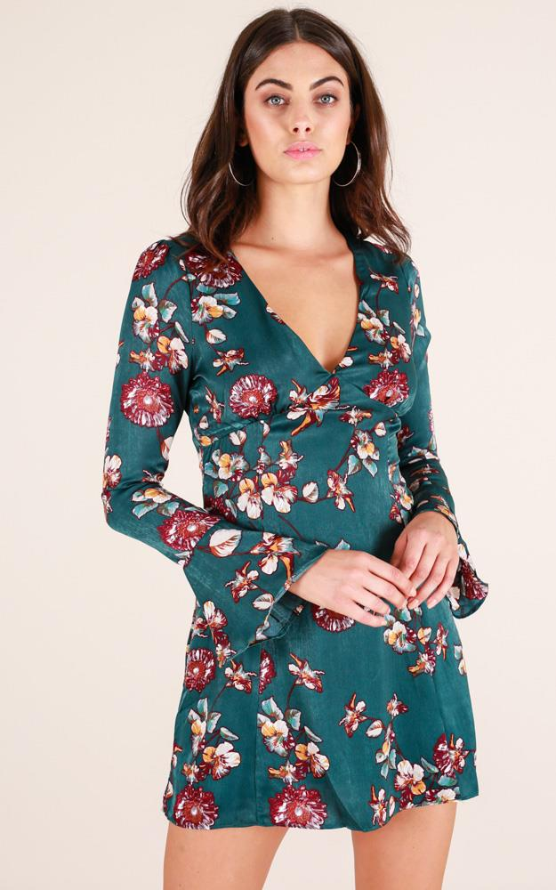 Showpo Fair Play dress in teal floral