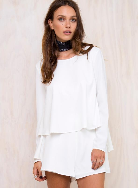 Women's The Fifth Mineral Playsuit White