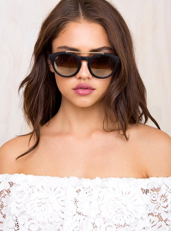 Women's The Harlow Sunglases Black