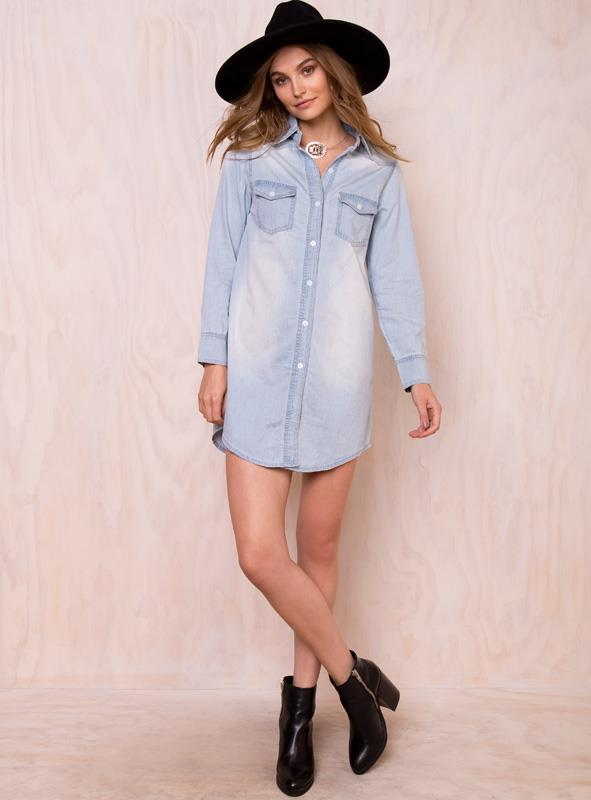 Women's Time To Fade Blouse Pale Blue