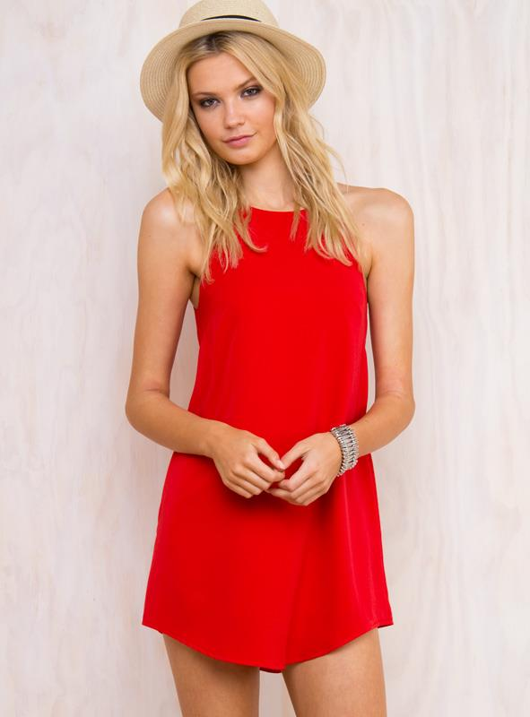 Women's Two Minds Dress Red