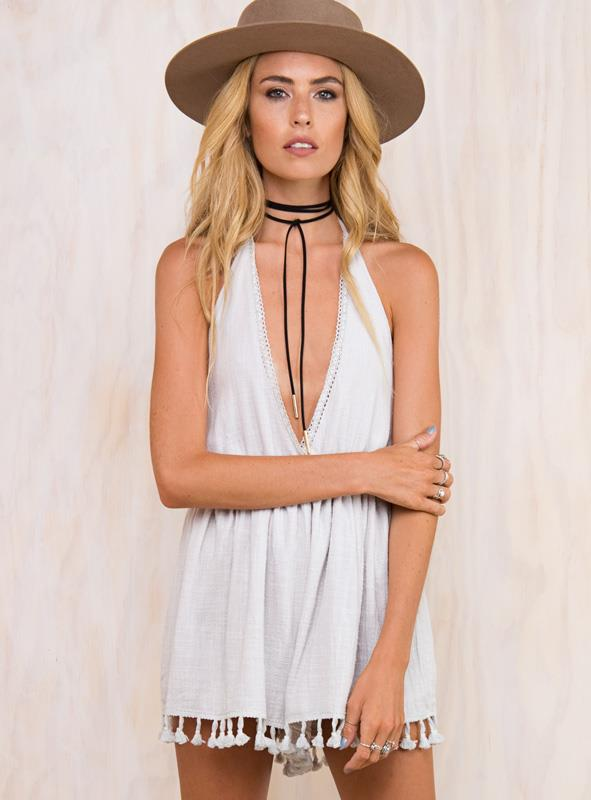 Women's Whispers In The Wind Playsuit Grey