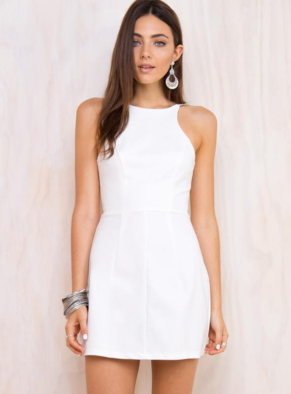Women's Wild Imagination White Dress White