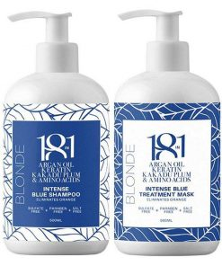 18in1 Blonde Intense Blue Shampoo and Mask Kit