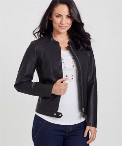 Long Sleeve Pu Jacket