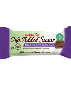Healtheries No Added Sugar Milk Chocolate Smooth Centre 21gm
