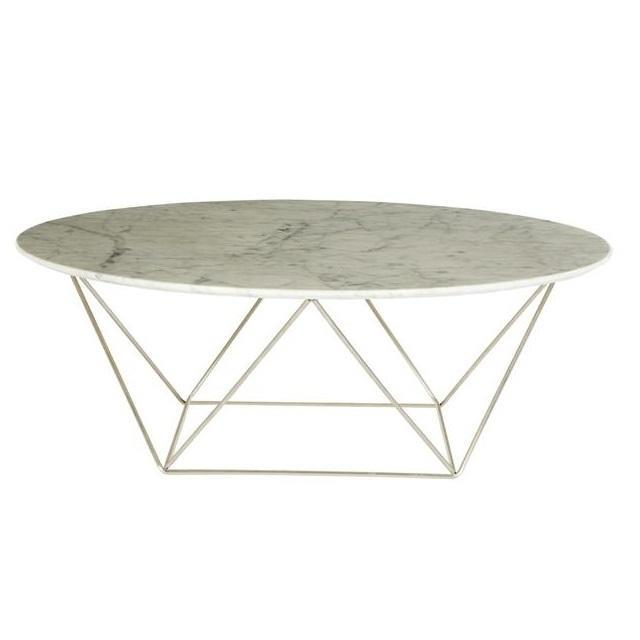 Como Marble Round Coffee Table
