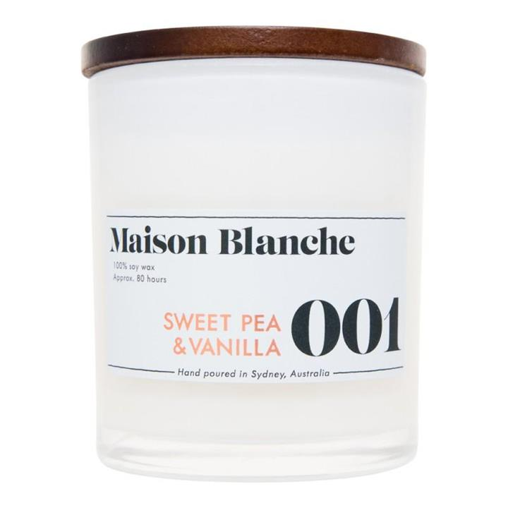 001 Sweet Pea & Vanilla | 80 hour Soy Candle